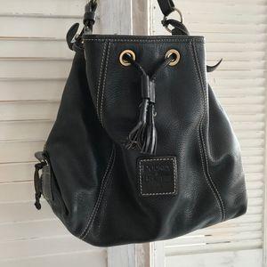 Dooney & Bourke black leather bucket purse handbag